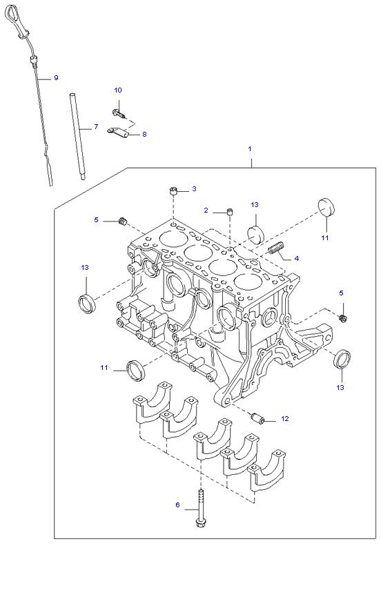 блок цилиндров в сборе ( 1.5L )