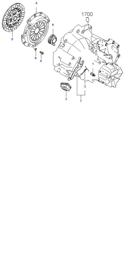 Ведомый диск и механизм сцепления ( 1.8L 5MT 2WD )