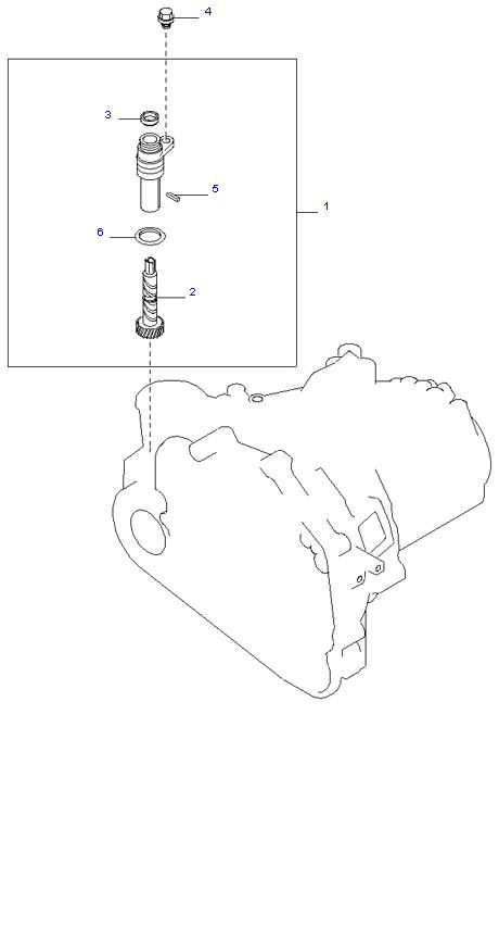 Ведомая шестерня привода спидометра ( 5MT 2WD )