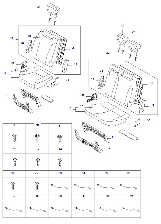 REAR 3ND SEAT ( WL7(7) )