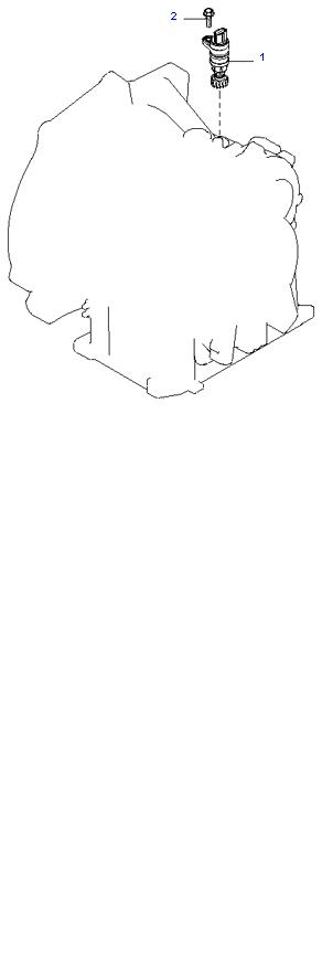 Ведомая шестерня привода спидометра ( 1.8L 4AT 2WD )