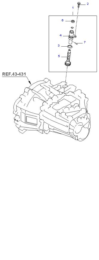 Ведомая шестерня привода спидометра ( 1.1L )