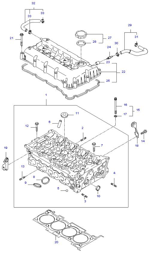 блок цилиндров в сборе ( 2.0L )