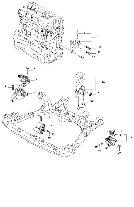 ENGINE MOUNTING ( 2.0L )