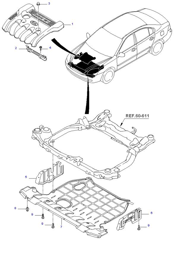 MUD GUARD & ENGINE COVER ( 2.0L )