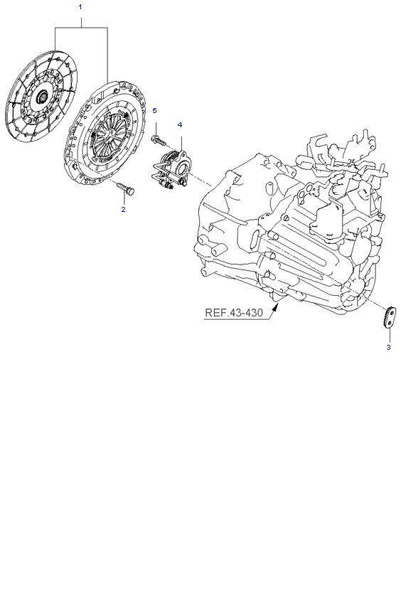 Вилка выключения сцепления ( 2.0L )