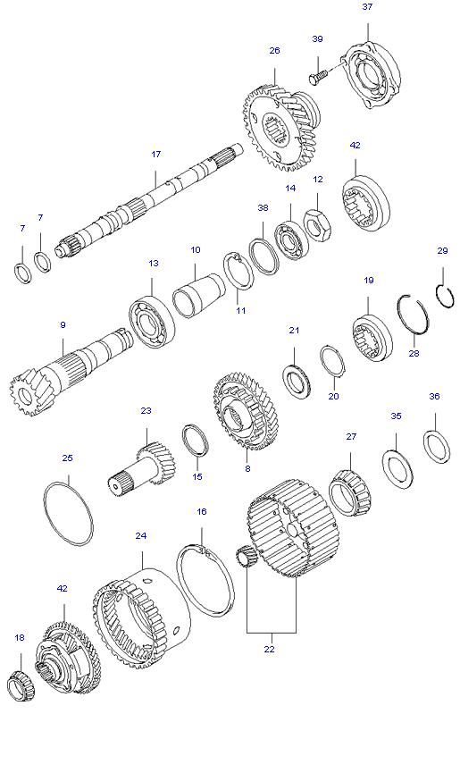 TRANSAXLE GEAR(A/T) ( 2.0L )