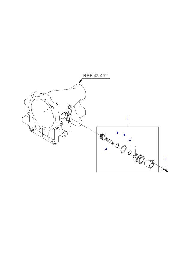 Ведомая шестерня привода спидометра ( 3.3L )