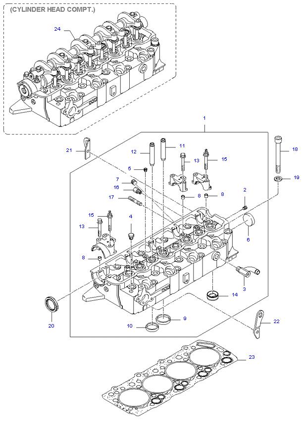 головка цилиндров ( D4BH )