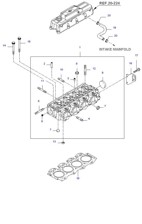головка цилиндров ( 2.7L )