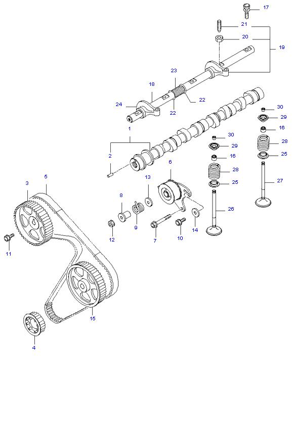 Газораспределительный механизм ( D4BH )