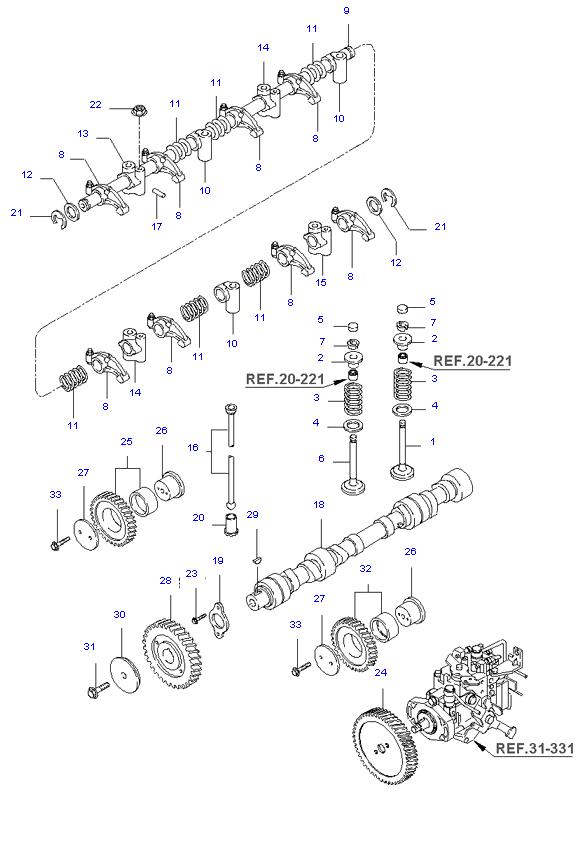 Газораспределительный механизм ( 2.7L )