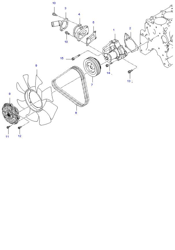 Водяной насос ( D4BH )