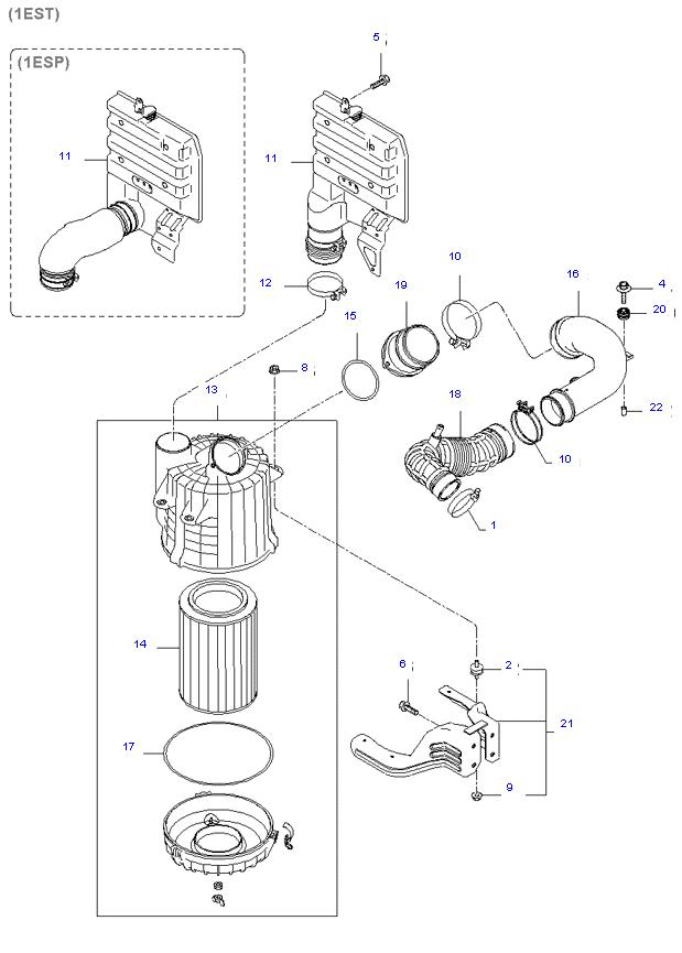 воздушный фильтр ( D4BH )