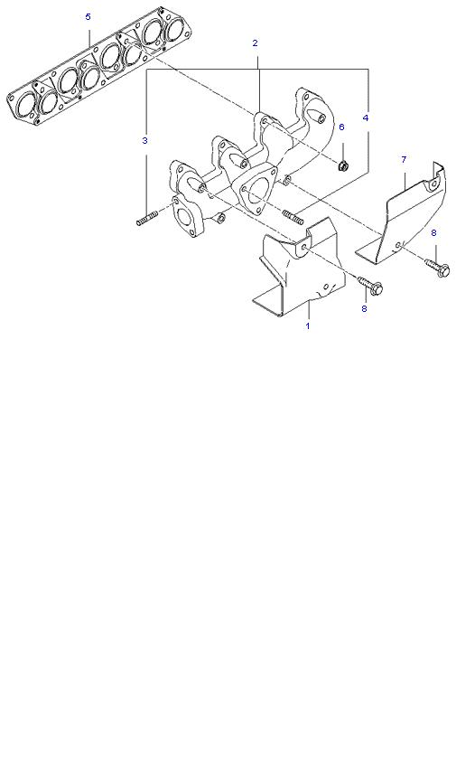 Выпускной коллектор ( D4BH )