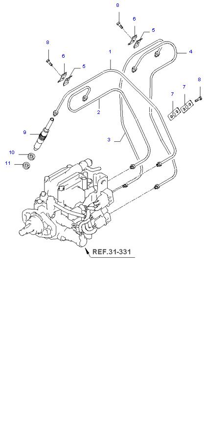 дроссельная заслонка и инджектор ( D4BH )