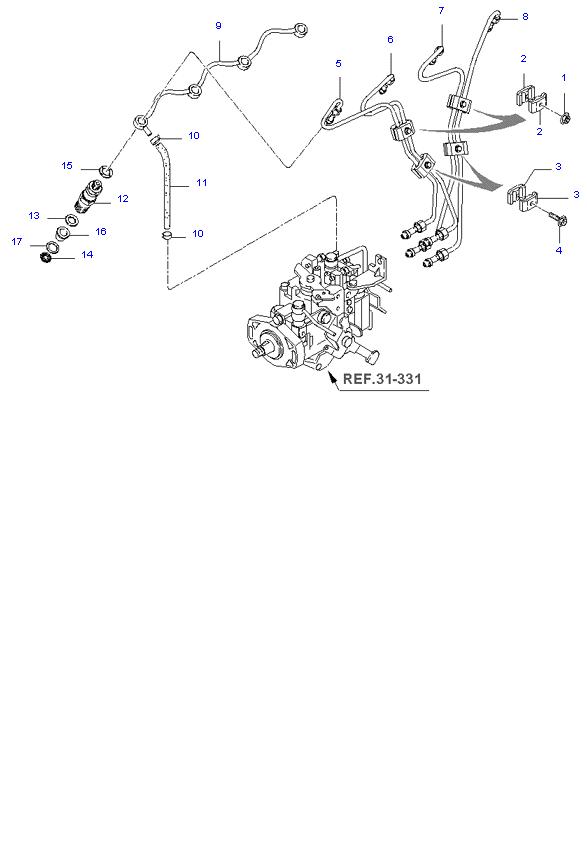 дроссельная заслонка и инджектор ( 2.7L )