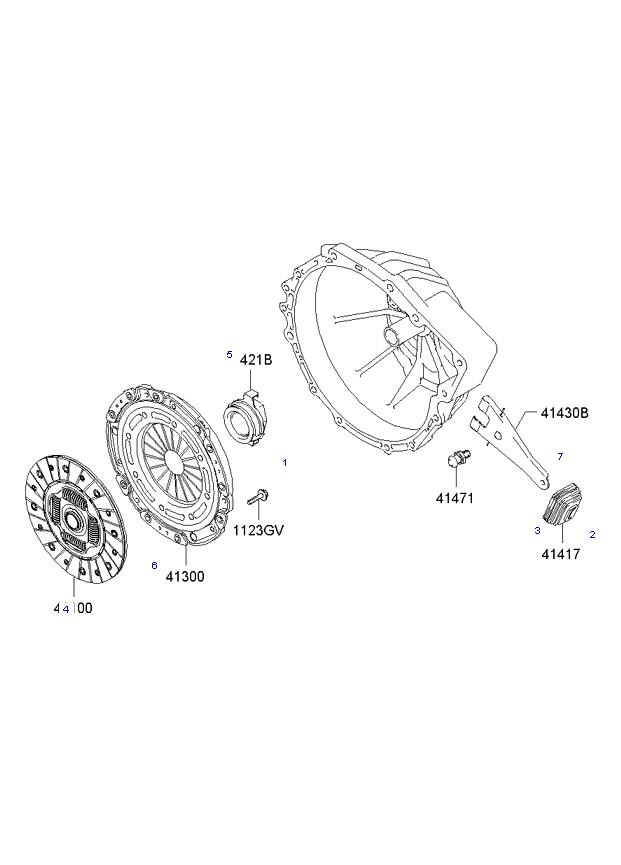 Вилка выключения сцепления ( 2.7L 5MT 2WD )