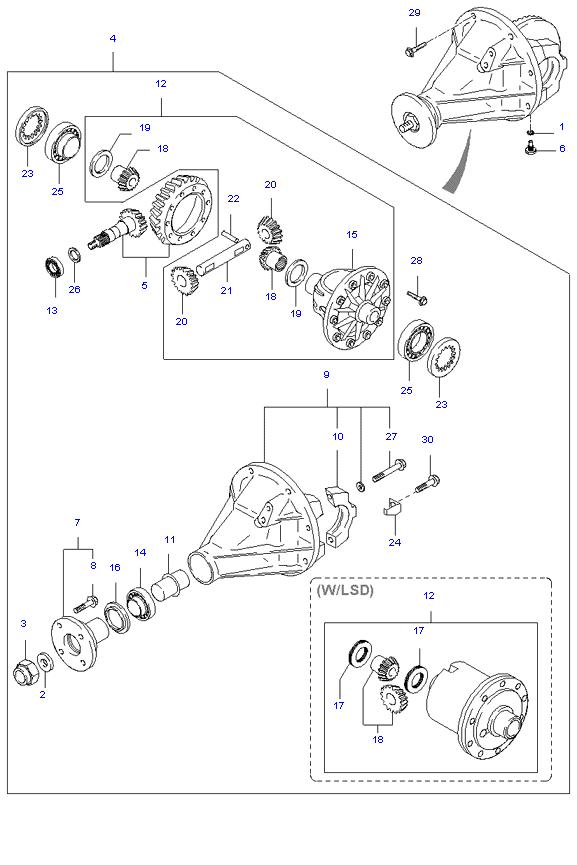 дифференциал задний ( 1TON E/L SUPER CAB )