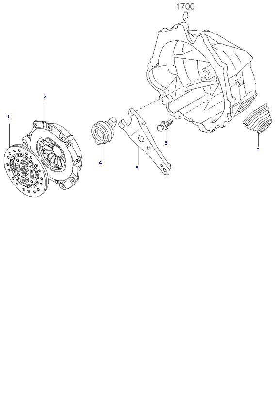 Ведомый диск и механизм сцепления ( D4BH )