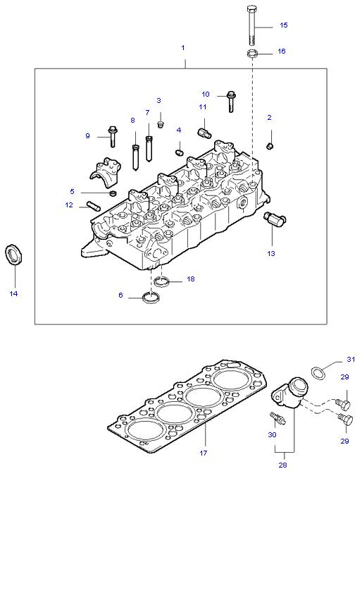 головка цилиндров и крышка ( D4BH )