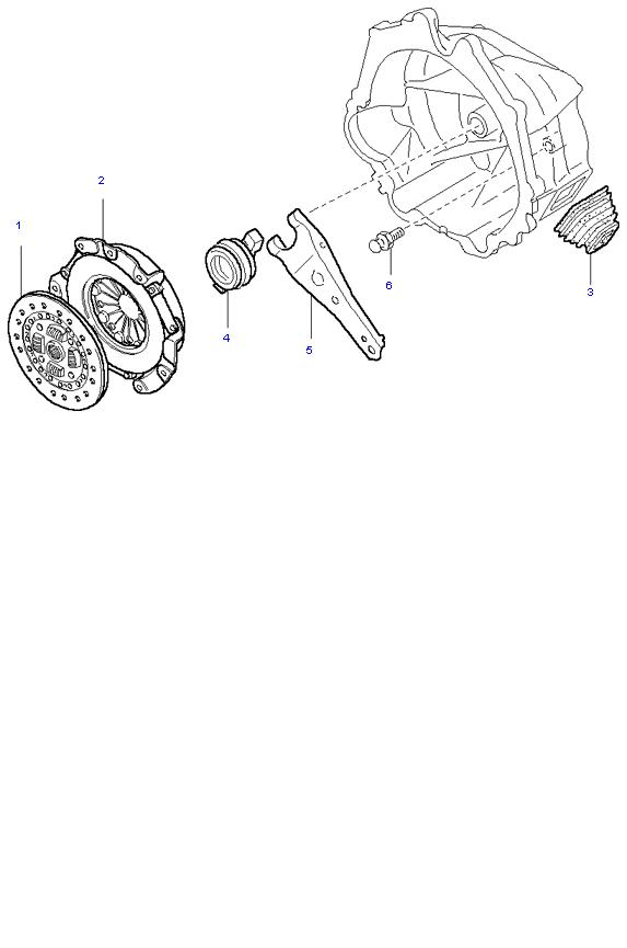 Ведомый диск и механизм сцепления ( D4BH 5MT 2WD )