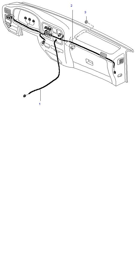 Жгут проводов(Комбинации приб. и пола)