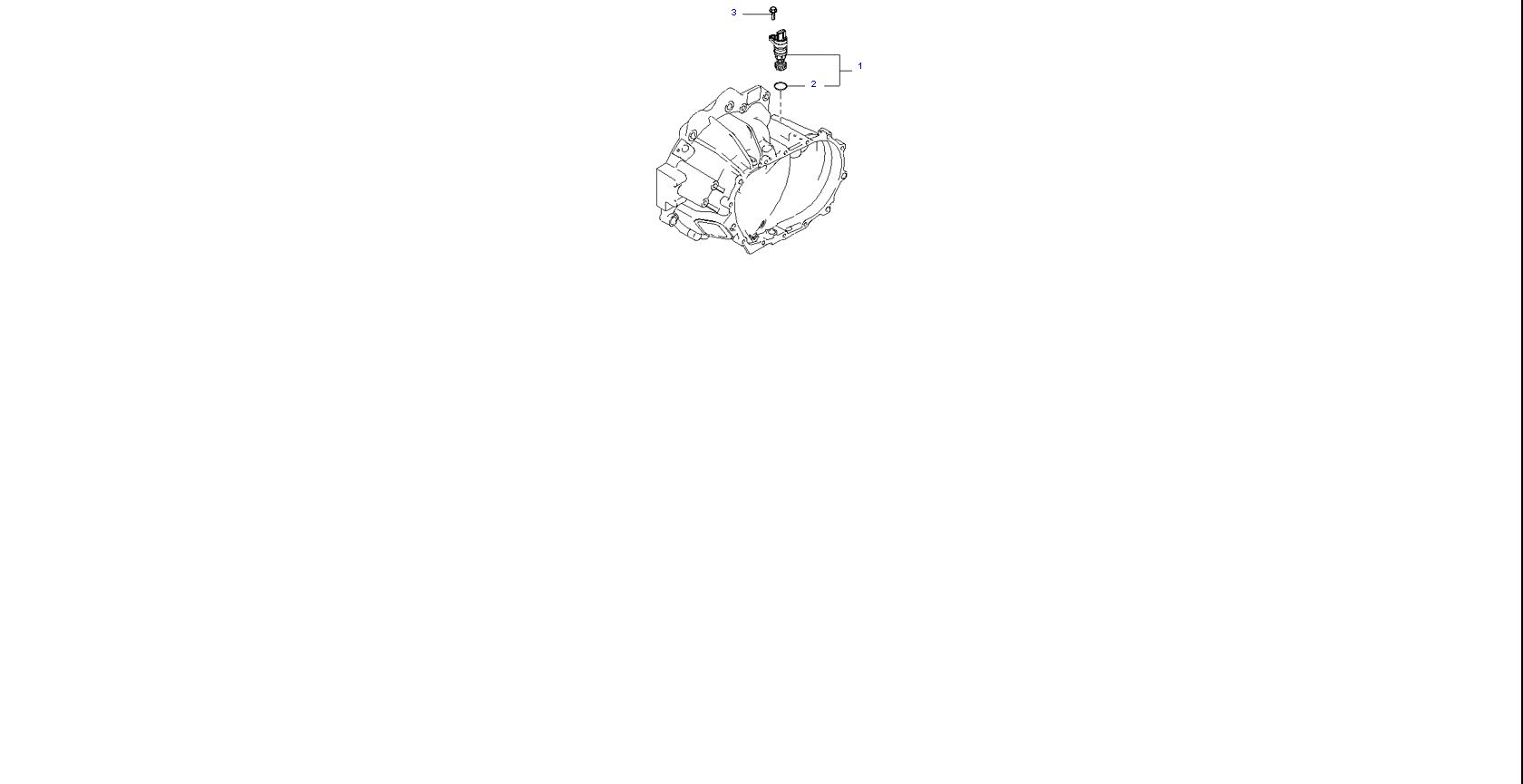 Ведомая шестерня привода спидометра ( 1.6L 4AT 2WD )