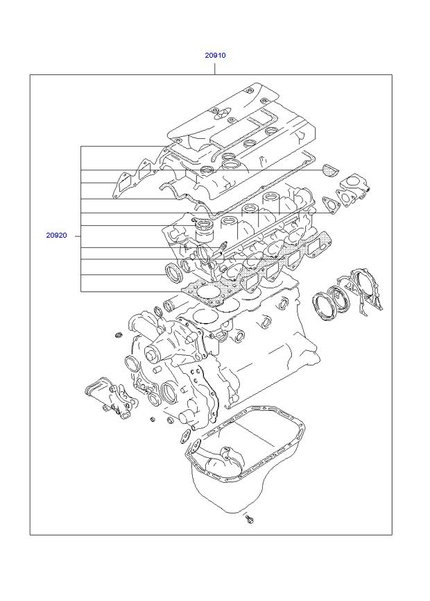 Комплект прокладок для ремонта двигателя