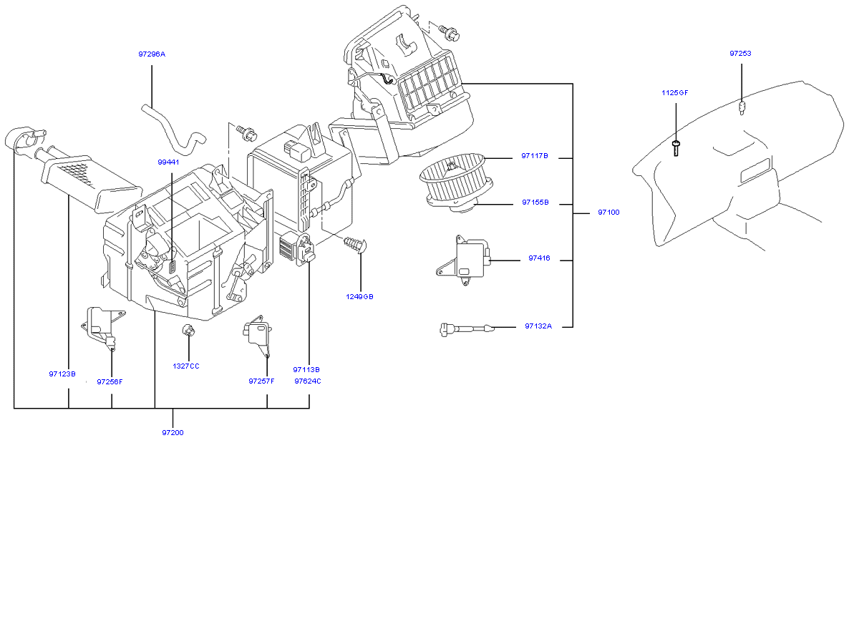 Климатическая установка - отопитель и вентилятор