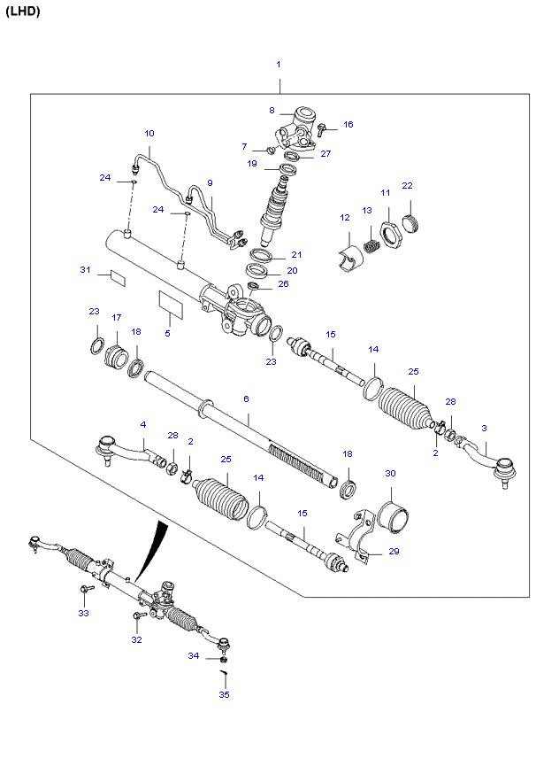 Киа спортейдж ремонт своими руками рулевой рейки