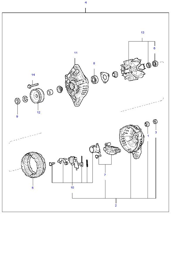 генератор в сборе ( 1.1L )