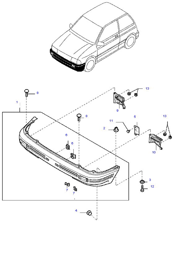 бампер передний ( 3DOOR SEDAN )