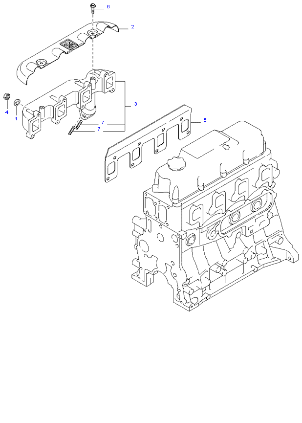 Выпускной коллектор ( 3.0L )