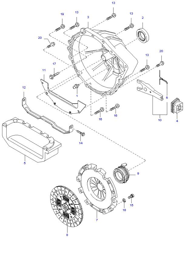 Ведомый диск и механизм сцепления ( 3.0L 5MT 2WD )