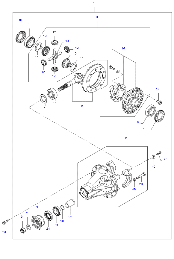 дифференциал ( 3.0L )