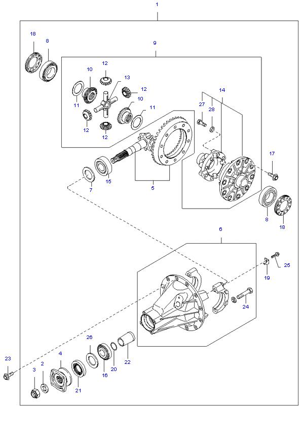 дифференциал задний ( 3.0L )