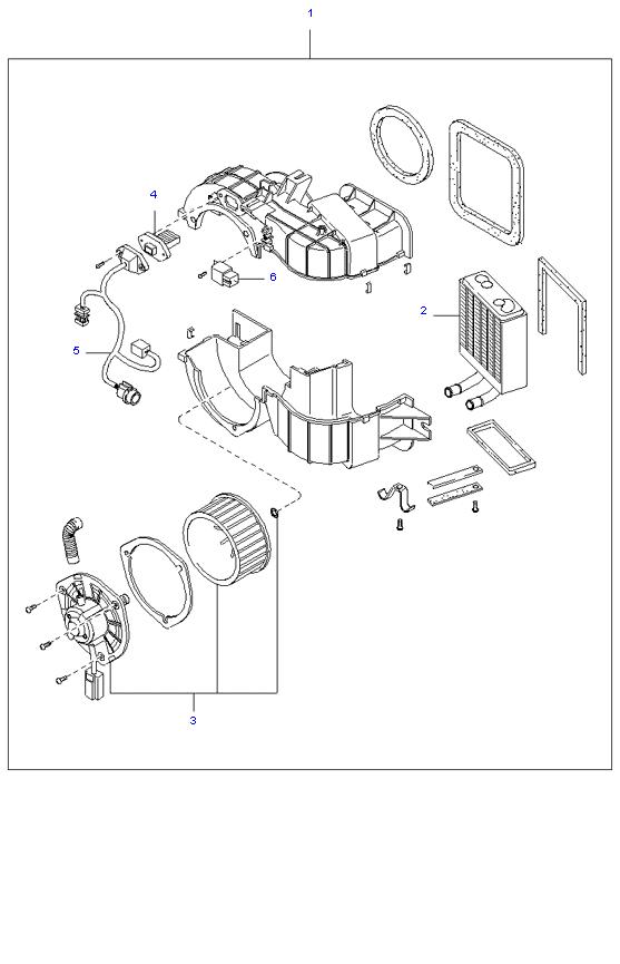 Вентилятор отопителя ( WAGON E/LONG(15) 3.0L )