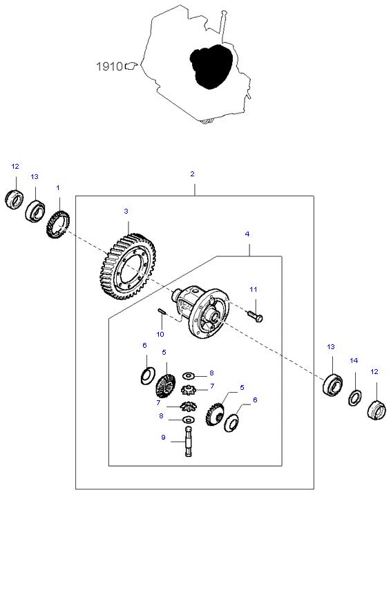 дифференциал ( 1.3L 3AT 2WD )