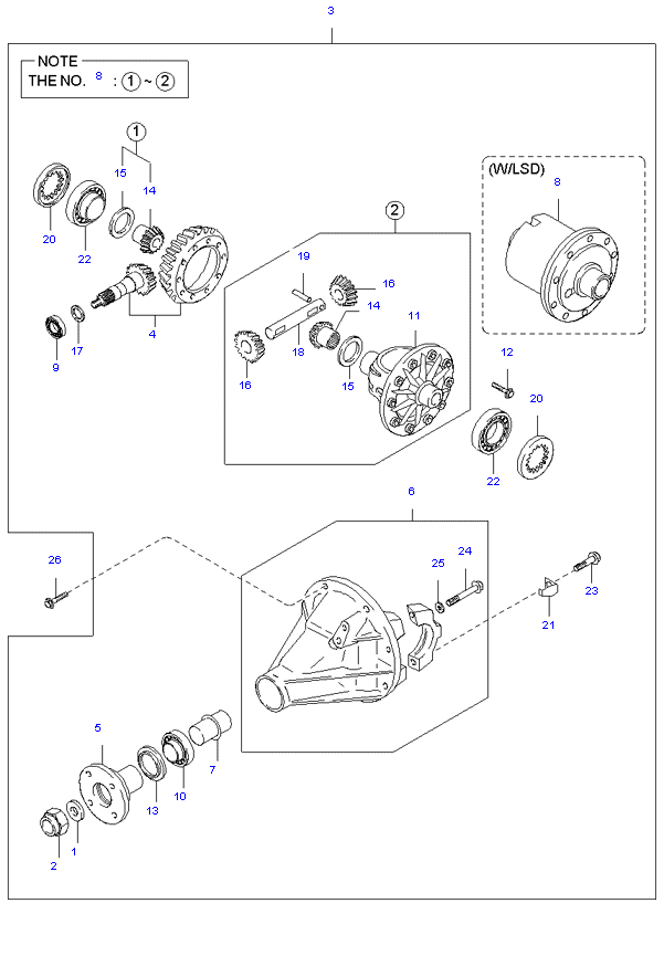 дифференциал ( 1TON H/L STD CAB 5MT 2WD )