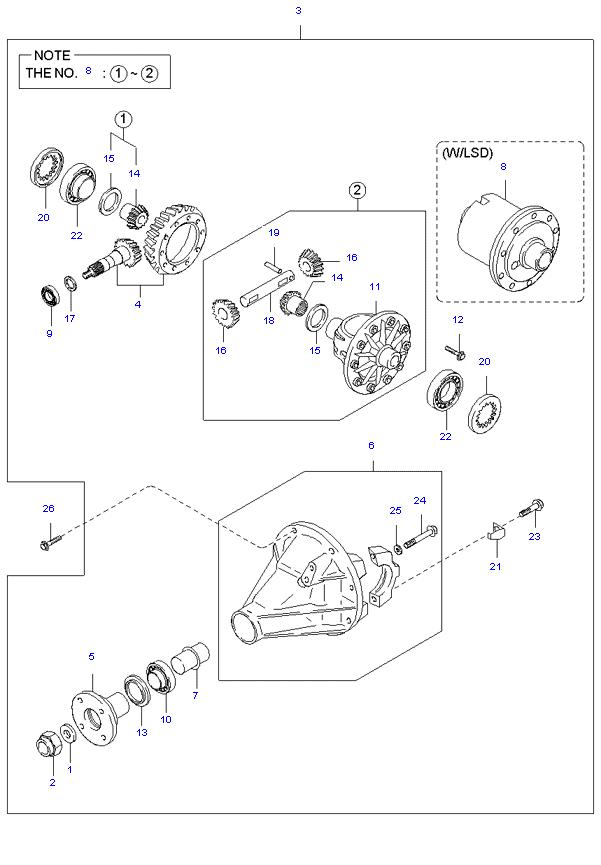 дифференциал ( 1TON H/L SUPER CAB 5MT 2WD )