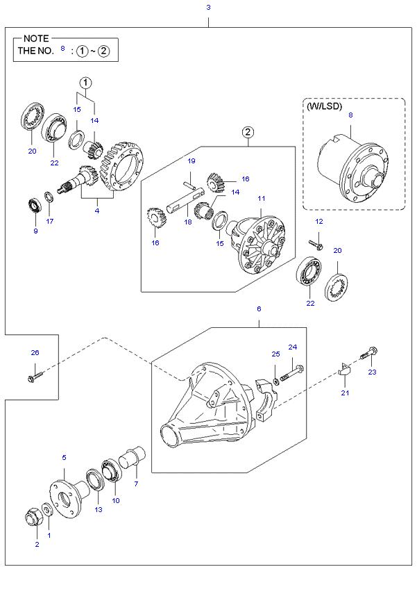 дифференциал ( 1TON H/L DOUBLE CAB 5MT 2WD )