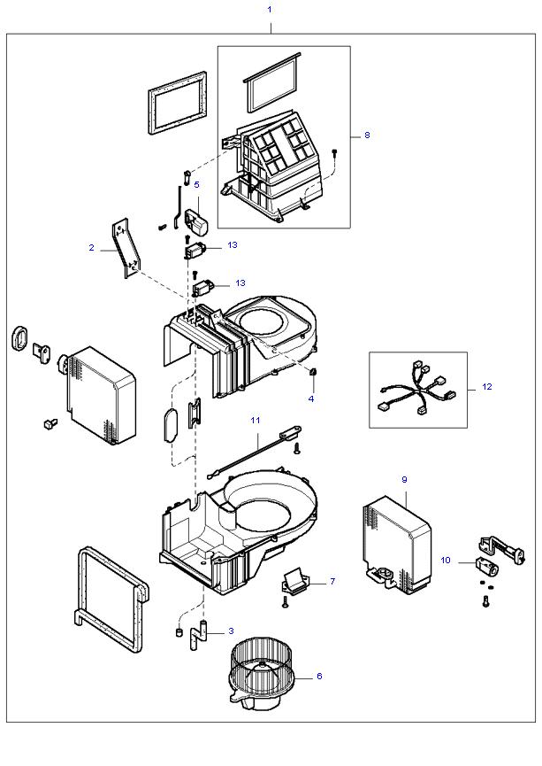 Вентилятор салона ( 5MT 2WD )