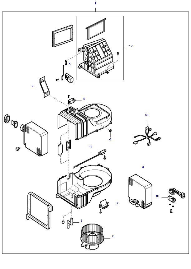 Вентилятор салона ( 5MT 4WD )