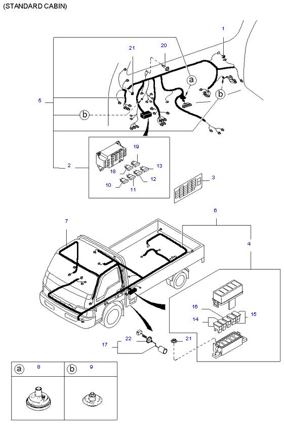 Жгут проводов(Передний и задний) ( 5MT 2WD )