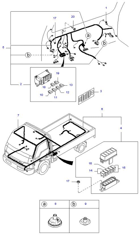 Жгут проводов(Передний и задний) ( 5MT 4WD )