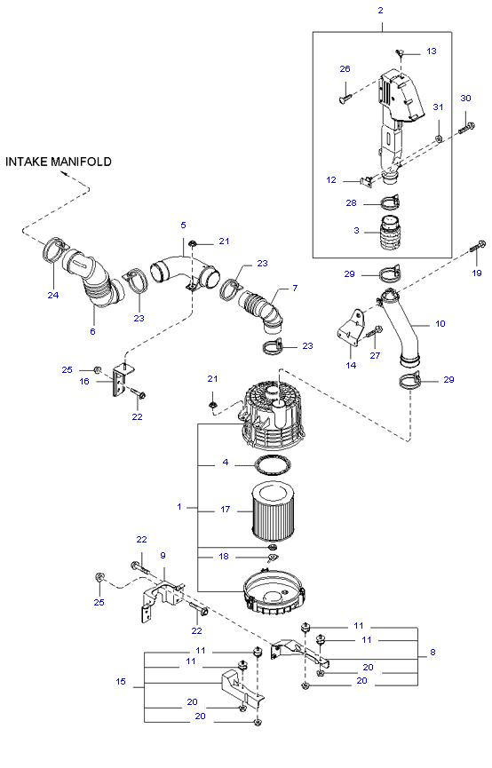 воздушный фильтр ( 1.4T E/L STD CAB )