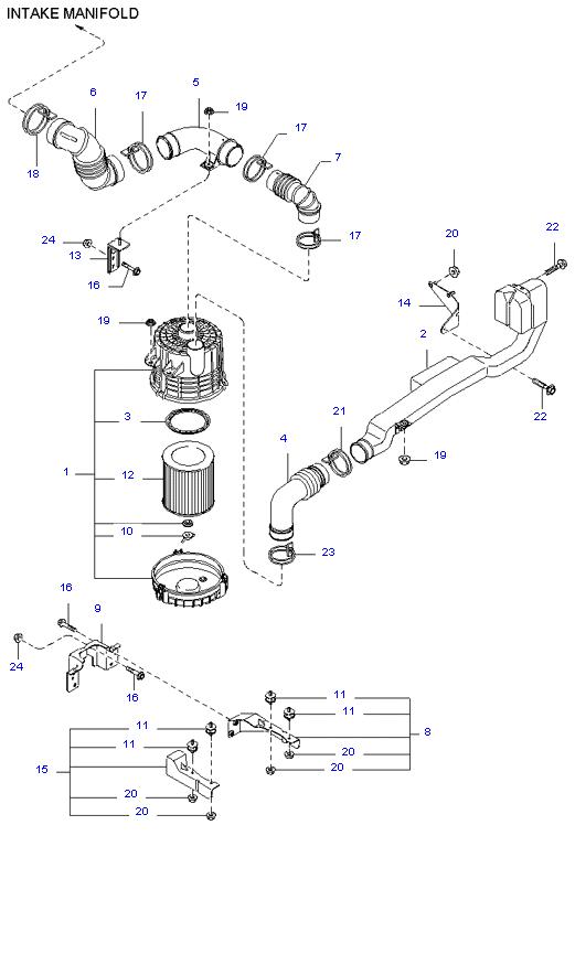 воздушный фильтр ( 1.4T E/L DOUBLE CAB )