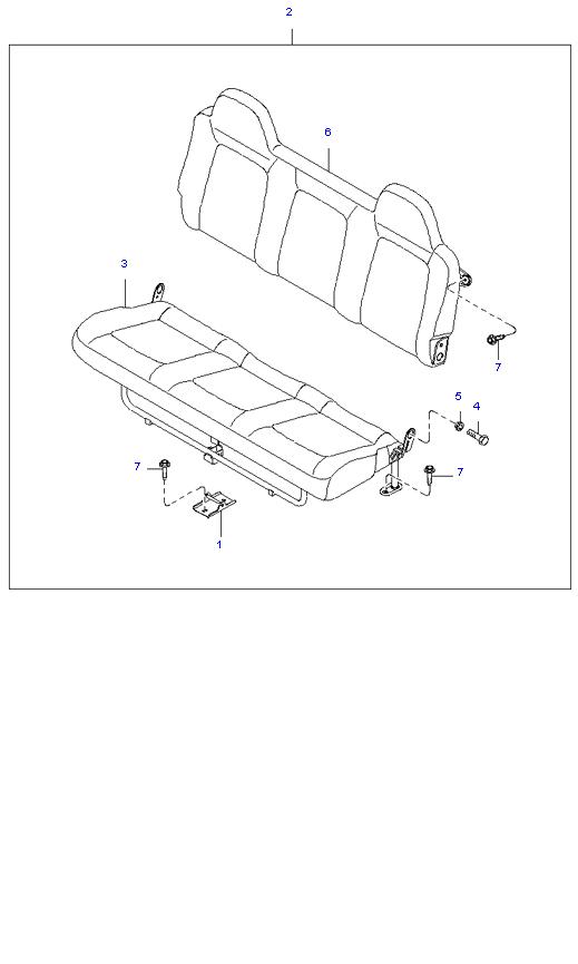 Задние сиденья ( 1.4T E/L DOUBLE CAB )