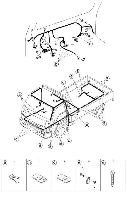 Держатели жгутов проводов ( 1.4T E/L STD CAB )